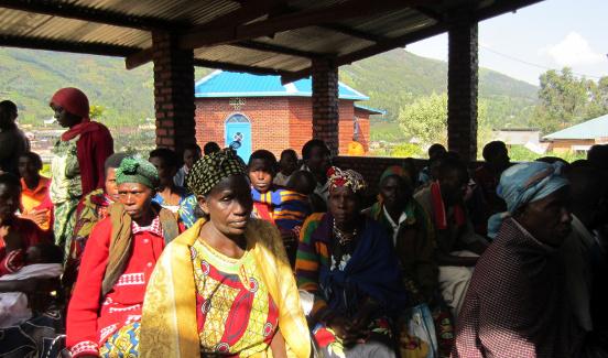Budowa kuchni dla chorych w ośrodku zdrowia w Rushaki (Rwanda)