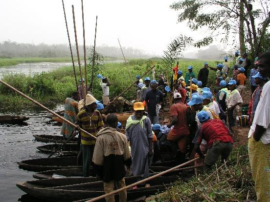 Budowa stawów rybnych w Atoku (Kamerun)